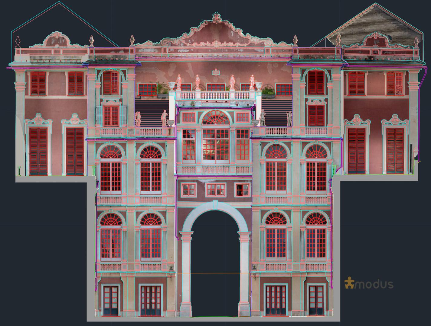 modus architecturae rilievo palazzo reale Genova